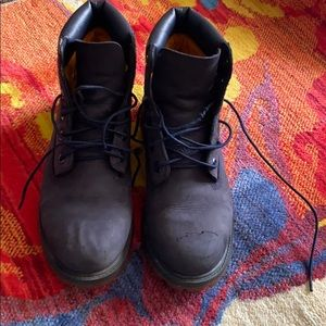 Timberland boots kids shoes size 6.5 Navy Bkue